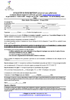 Bulletin d'inscription Sainte-Hélène mars 2020